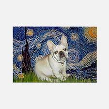 Starry / Fr Bulldog (f) Rectangle Magnet