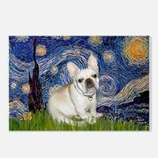 Starry / Fr Bulldog (f) Postcards (Package of 8)