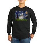 Starry / Fr Bulldog (f) Long Sleeve Dark T-Shirt