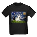 Starry / Fr Bulldog (f) Kids Dark T-Shirt