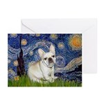 Starry / Fr Bulldog (f) Greeting Cards (Pk of 20)
