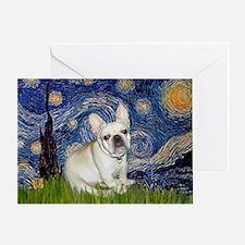 Starry / Fr Bulldog (f) Greeting Card