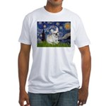 Starry / Fr Bulldog (f) Fitted T-Shirt