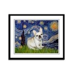Starry / Fr Bulldog (f) Framed Panel Print