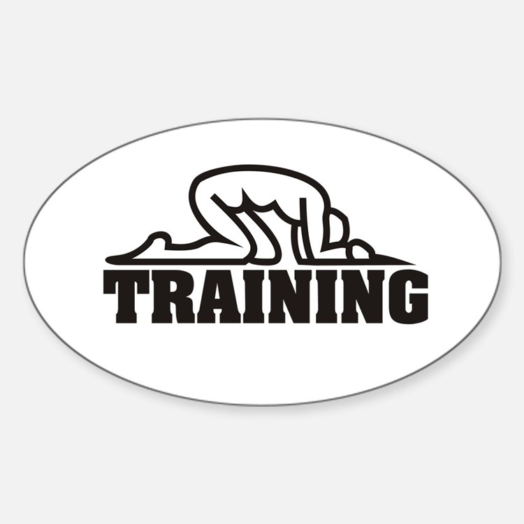 Slave Training Oval Decal