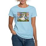 Lilies / Fr Bulldog (f) Women's Light T-Shirt