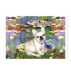 Lilies / Fr Bulldog (f) Postcards (Package of 8)
