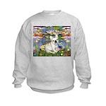 Lilies / Fr Bulldog (f) Kids Sweatshirt