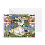 Lilies / Fr Bulldog (f) Greeting Card