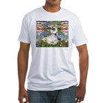 Lilies / Fr Bulldog (f) Fitted T-Shirt
