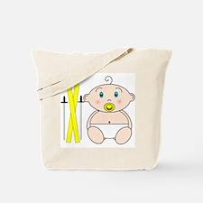 Skiing Baby Tote Bag