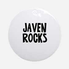 Javen Rocks Ornament (Round)