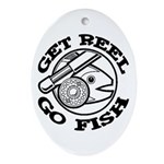 Get Reel Go Fish Oval Ornament