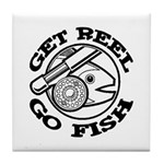 Get Reel Go Fish Tile Coaster