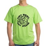 Get Reel Go Fish Green T-Shirt