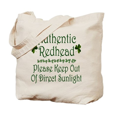 Authentic Redhead... Tote Bag