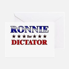 RONNIE for dictator Greeting Card