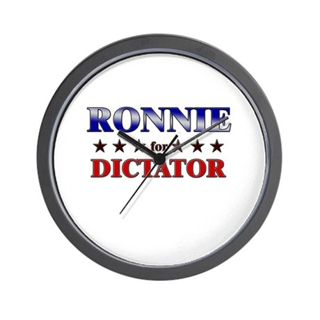 RONNIE for dictator Wall Clock