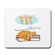 Dreaming cat Mousepad