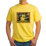 Starry/French Bulldog Yellow T-Shirt