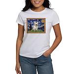 Starry/French Bulldog Women's T-Shirt