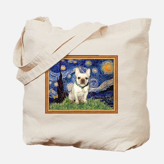 Starry/French Bulldog Tote Bag
