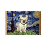 Starry/French Bulldog Rectangle Magnet (10 pack)