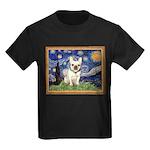 Starry/French Bulldog Kids Dark T-Shirt