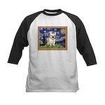 Starry/French Bulldog Kids Baseball Jersey