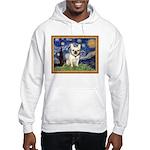 Starry/French Bulldog Hooded Sweatshirt