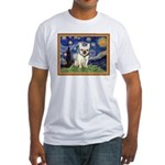 Starry/French Bulldog Fitted T-Shirt