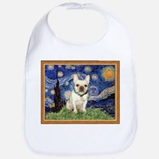 Starry/French Bulldog Bib