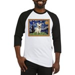 Starry/French Bulldog Baseball Jersey