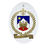 GALLANT Family Crest Oval Ornament