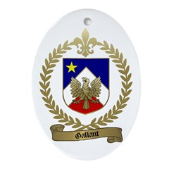 GALLANT Family Crest Oval Ornament