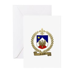 GALLANT Family Crest Greeting Cards (Pk of 20)