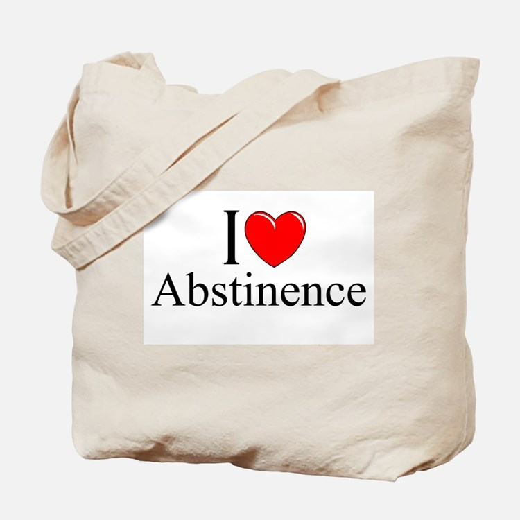 """I Love (Heart) Abstinence"" Tote Bag"