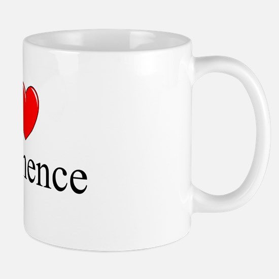 """I Love (Heart) Abstinence"" Mug"