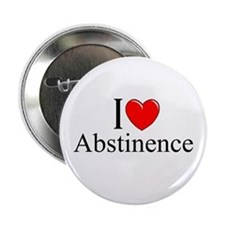 """I Love (Heart) Abstinence"" 2.25"" Button"