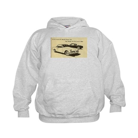 Two '53 Studebakers on Kids Hoodie
