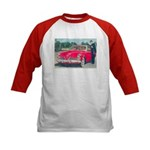 Red Studebaker on Kids Baseball Jersey