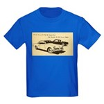 Two '53 Studebakers on Kids Dark T-Shirt