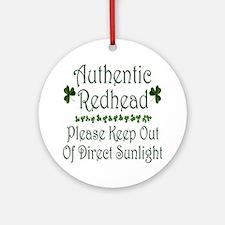 Authentic Redhead Ornament (Round)