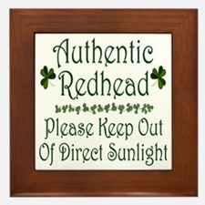 Authentic Redhead Framed Tile