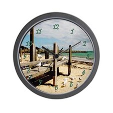 Seagulls At Fremantle Wall Clock