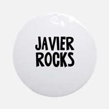 Javier Rocks Ornament (Round)