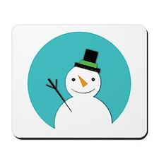 Hello Snowman Mousepad