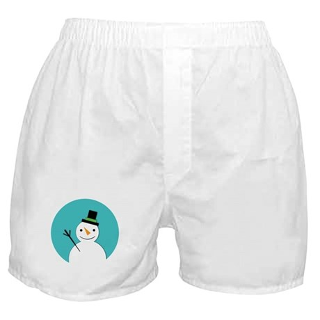 Hello Snowman Boxer Shorts