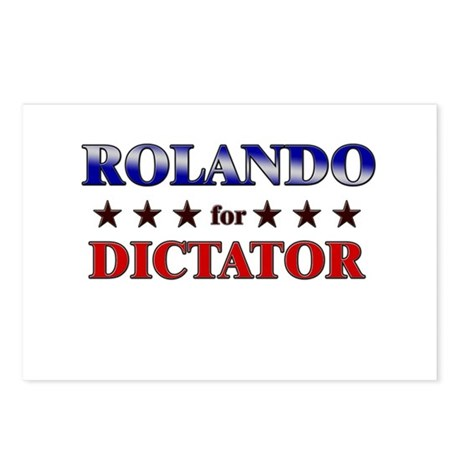 ROLANDO for dictator Postcards (Package of 8)