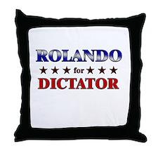 ROLANDO for dictator Throw Pillow
